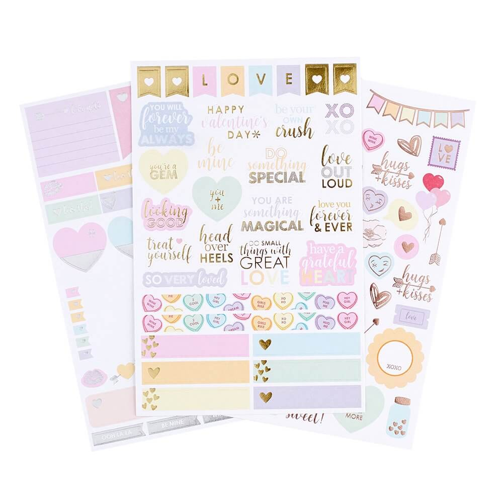 Erin Condren LifePlanner Accessories Love to Plan Sticker Pack - Planner Accessories - The Minted Life Lifestyle Blog for Women - Giveaways for Women