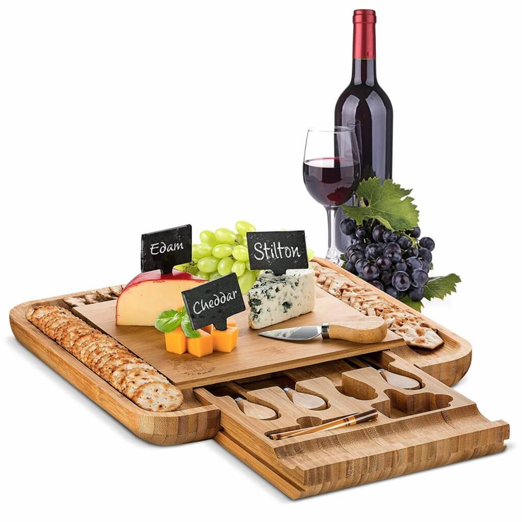 Gifts for Moms Who Have Everything - Bamboo Cheese Board and Cutting Tray