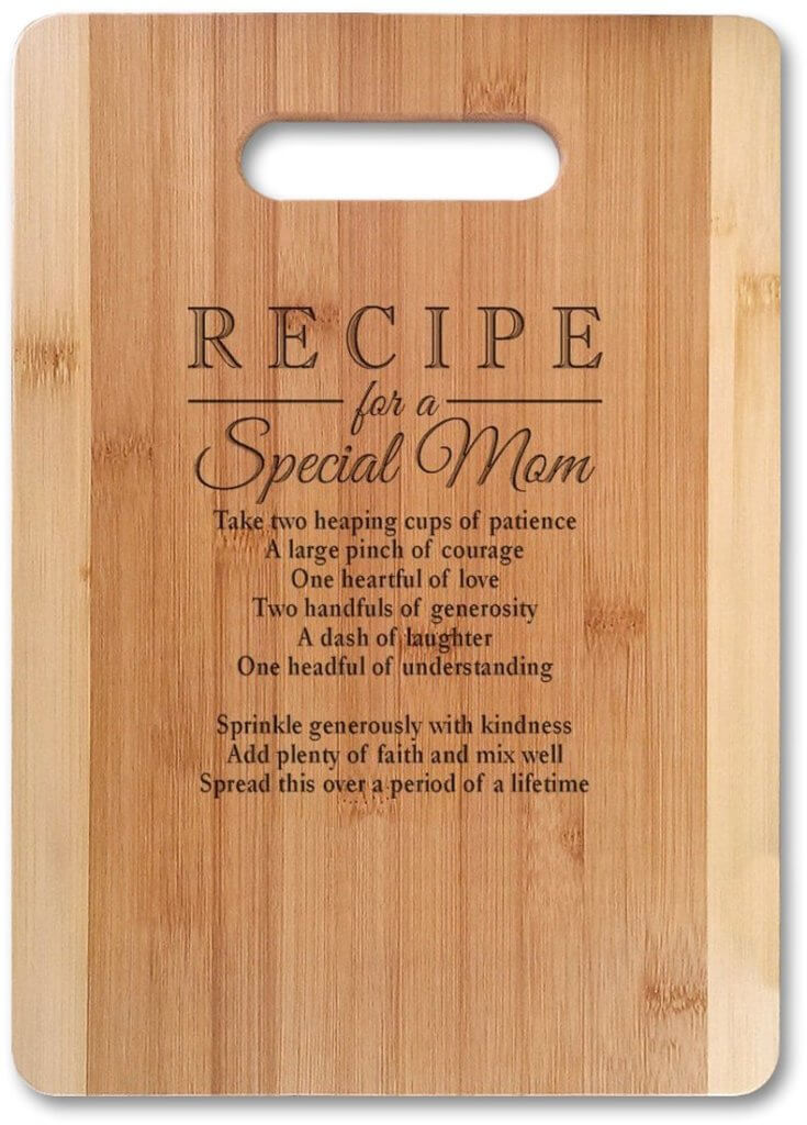 Gifts for Moms Who Have Everything - Mom Recipe Cutting Board