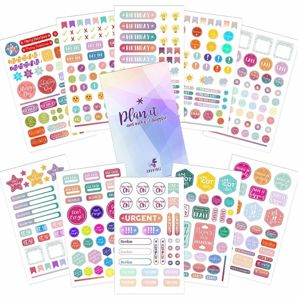 Planner Stickers - Planner Accessories - The Minted Life Lifestyle Blog for Women - Giveaways for Women