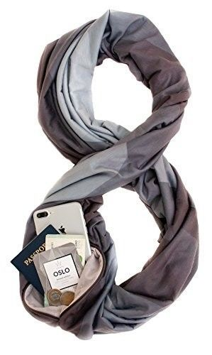 Travel Essentials for Women - Infinity Scarf with Hidden Pocket
