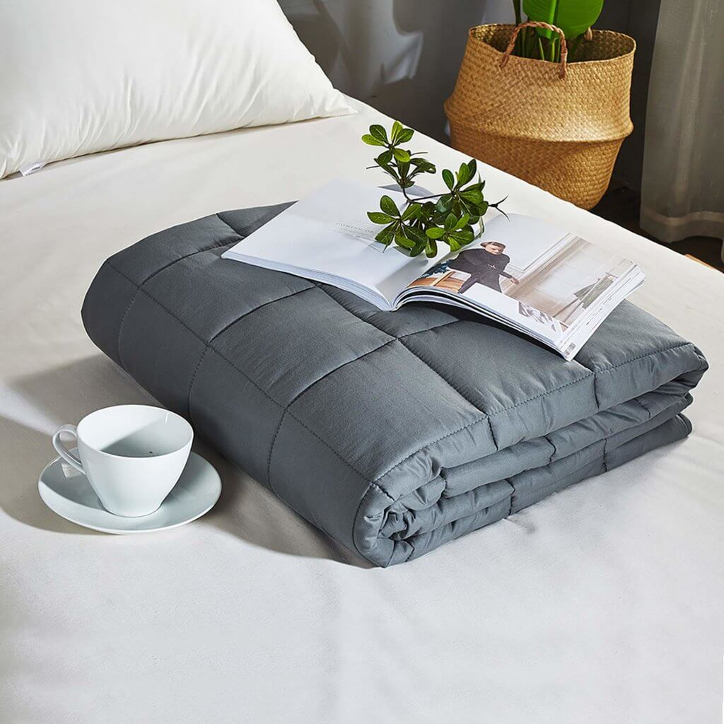 Weighted Blanket - Best Gifts for Homebodies - The Minted Life Lifestyle Blog for Women